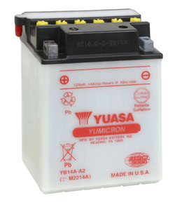 Akumulator motocyklowy YUASA YB14A-A1