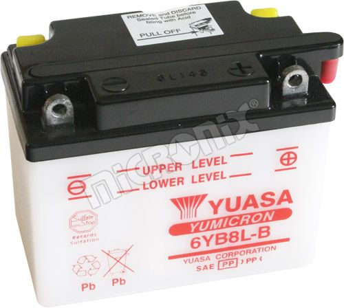 Akumulator motocyklowy YUASA 6YB8L-B