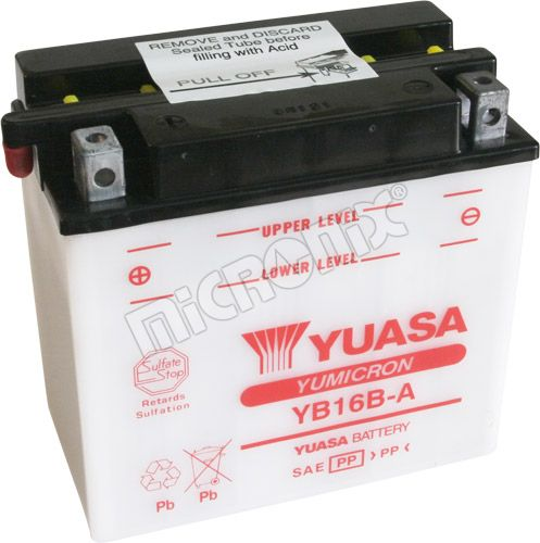 Akumulator motocyklowy YUASA YB16B-A